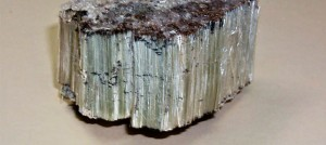 Image is of raw asbestos mineral in its mined form