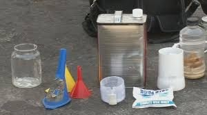 Image of toxic household cleaners and components of Methamptaminee